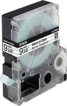 EPSON TRANSPARENT TAPE - CLEAR LC3TBN9 BLK / CLEAR 9/9