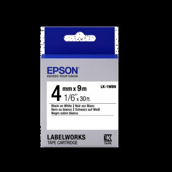Epson Label Cartridge Standard LK-1WBN Black/White 4mm (9m)