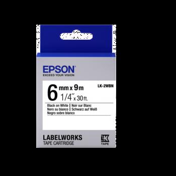 Epson Label Cartridge Standard LK-2WBN Black/White 6mm (9m)