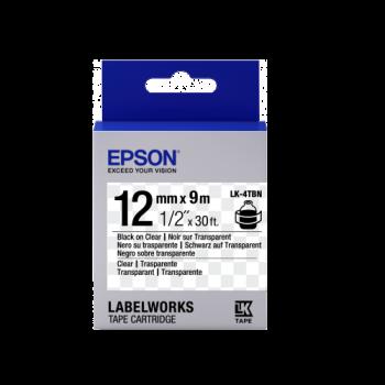 Epson Label Cartridge Transparent LK-4 Series 12mm (9m)