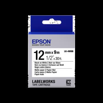 Epson Label Cartridge Matte Paper LK-4WBB Black/White 12mm (9m)