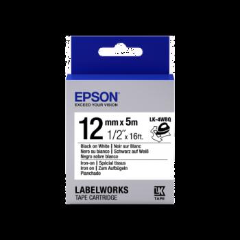 Epson Label Cartridge Iron on LK-4WBQ Black/White 12mm (5m)