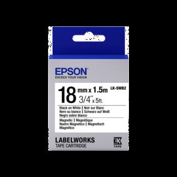 Epson Label Cartridge Magnetic LK-5WB2 Black/White 18mm (1.5m)