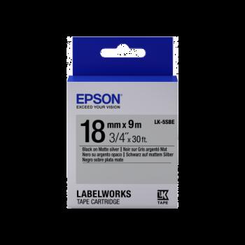 Epson Label Cartridge Matte LK-5SBE Black/Matt Silver 18mm (9m)