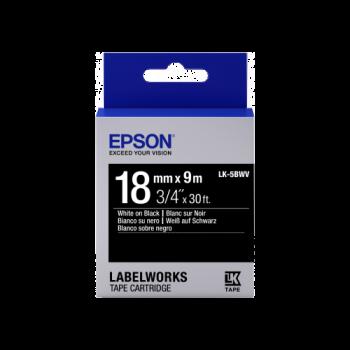 Epson Label Cartridge Vivid LK-5BWV White/Black 18mm (9m)