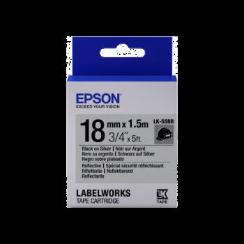 Epson Label Cartridge Reflective LK-5SBR Black/Silver 18mm (1.5m)