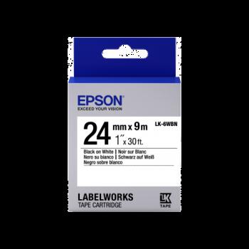 Epson Label Cartridge Standard LK-6WBN Black/White 24mm (9m)