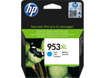 HP 953XL Cyan Original Ink Advantage Cartridge
