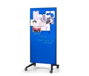 Legamaster 7-105300 90 x 175 cm Mobile Glassboard- Blue