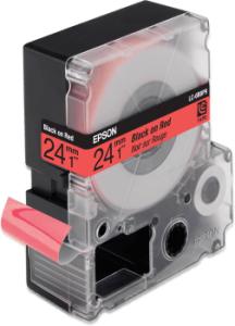 EPSON TAPE-LC6RBP9 Pastel Blk/Red 24/9 (mm/m)
